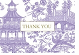 Fine Stationery Note Cards Purple Toile
