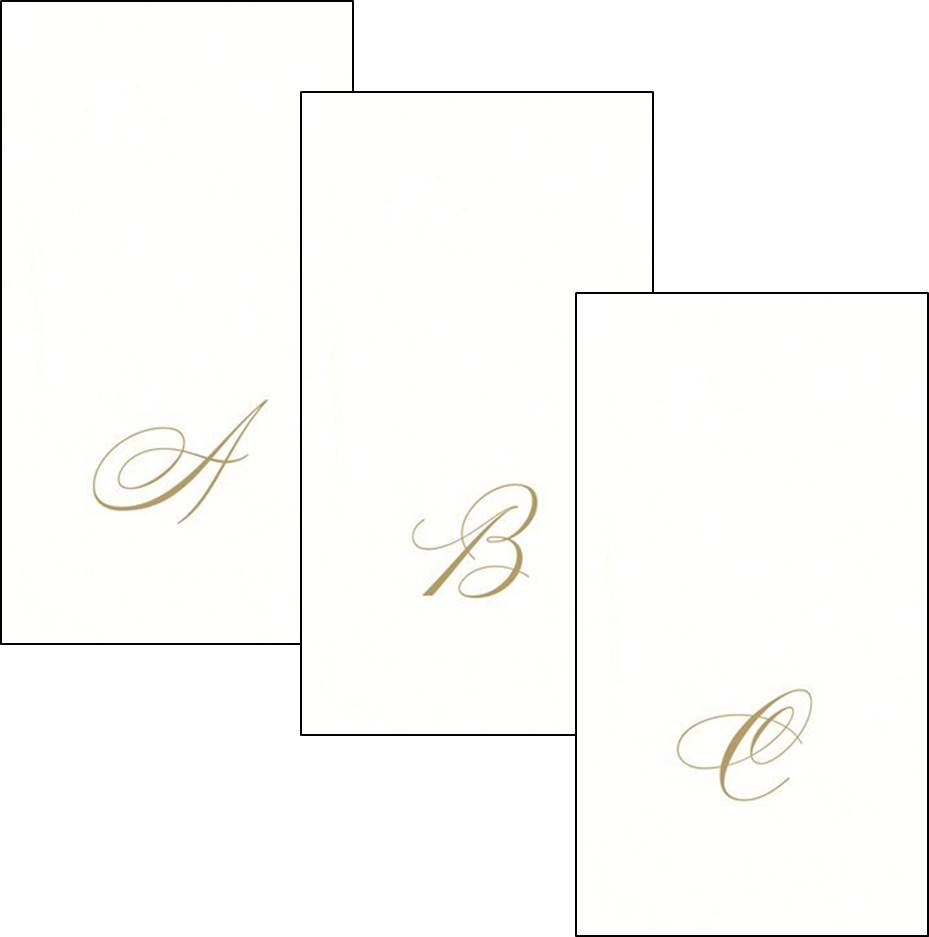 Gold Personalized Hand Towels Click To Enlarge