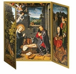 Holiday Cards Nativity Triptych