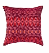 Ikat Fabric Pillow Fuchsia COVER ONLY