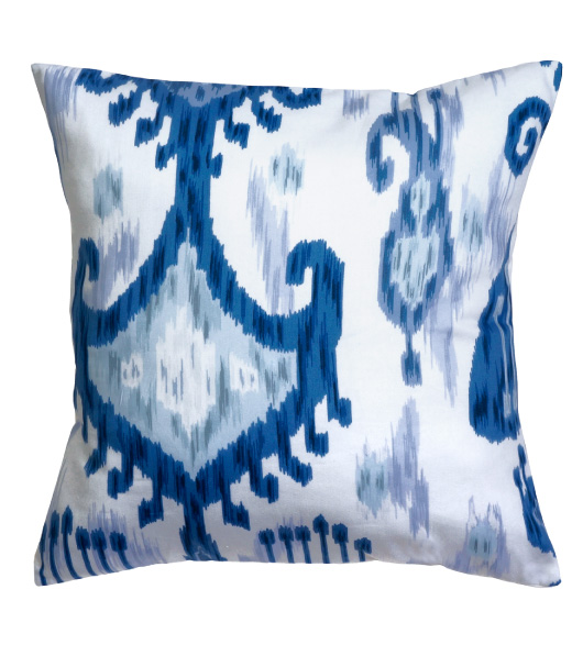 Astounding Ikat Pillows Blue White Without Insert Gamerscity Chair Design For Home Gamerscityorg