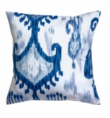 Ikat Pillows Blue White without Insert