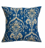 Ikat Pillows Blue without Insert