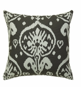 Ikat Pillows Grey Canvas without Insert