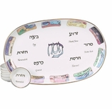 Jewish Home Decorations Ten Plagues Seder Plate