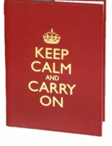 Keep Calm Blank Book Red