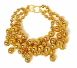 Kenneth Jay Lane Gold Beads Choker