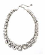 Kenneth Jay Lane Necklace Crystal 16""