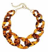 Kenneth Jay Lane Necklace Tortoiseshell 16""