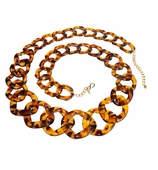 Kenneth Jay Lane Necklace Tortoiseshell 32""