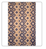 Kitchen Rug-Ikat Blue