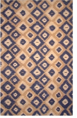 Kitchen Rugs Ikat Blue