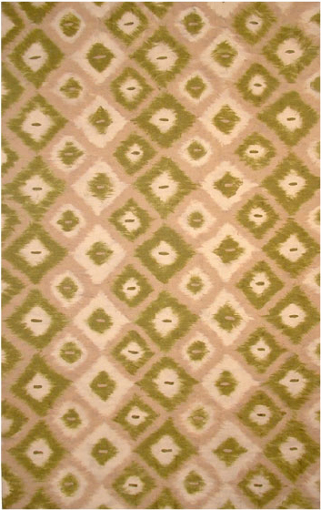 Kitchen Rugs Ikat Green