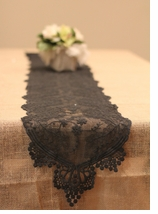 Lace Table Runners Black -1