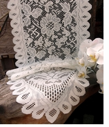 Lace Table Runners White - 1