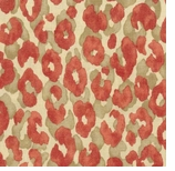 Leopard Print Fabric Red Animal