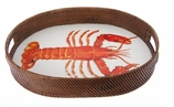 Lobster Rattan Serving Tray