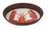 Lobster Small Rattan Tray