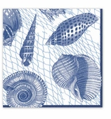 Lunch Napkins Shells Blue