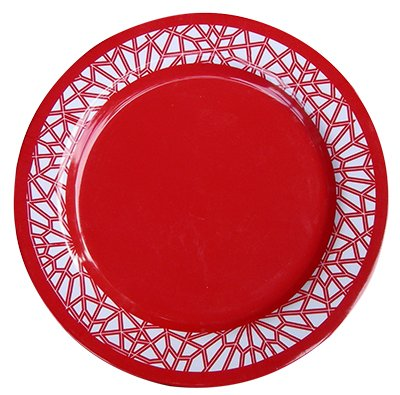 melamine dinner plates orange red - Melamine Dinner Plates
