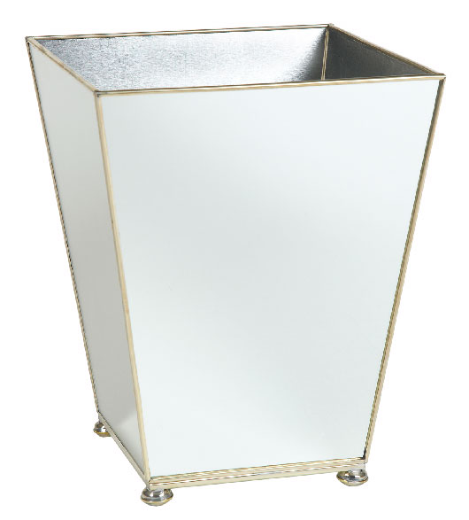 mirrored bath accessories mirrored wastebasket bath set On mirrored bath accessories