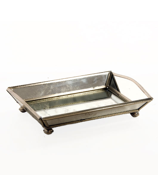 Mirrored Bath Accessories Vanity Tray. Click To Enlarge
