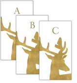 Monogrammed Hand Towels Stag Gold