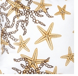 Nautical Fabrics Gold Starfish Swatch