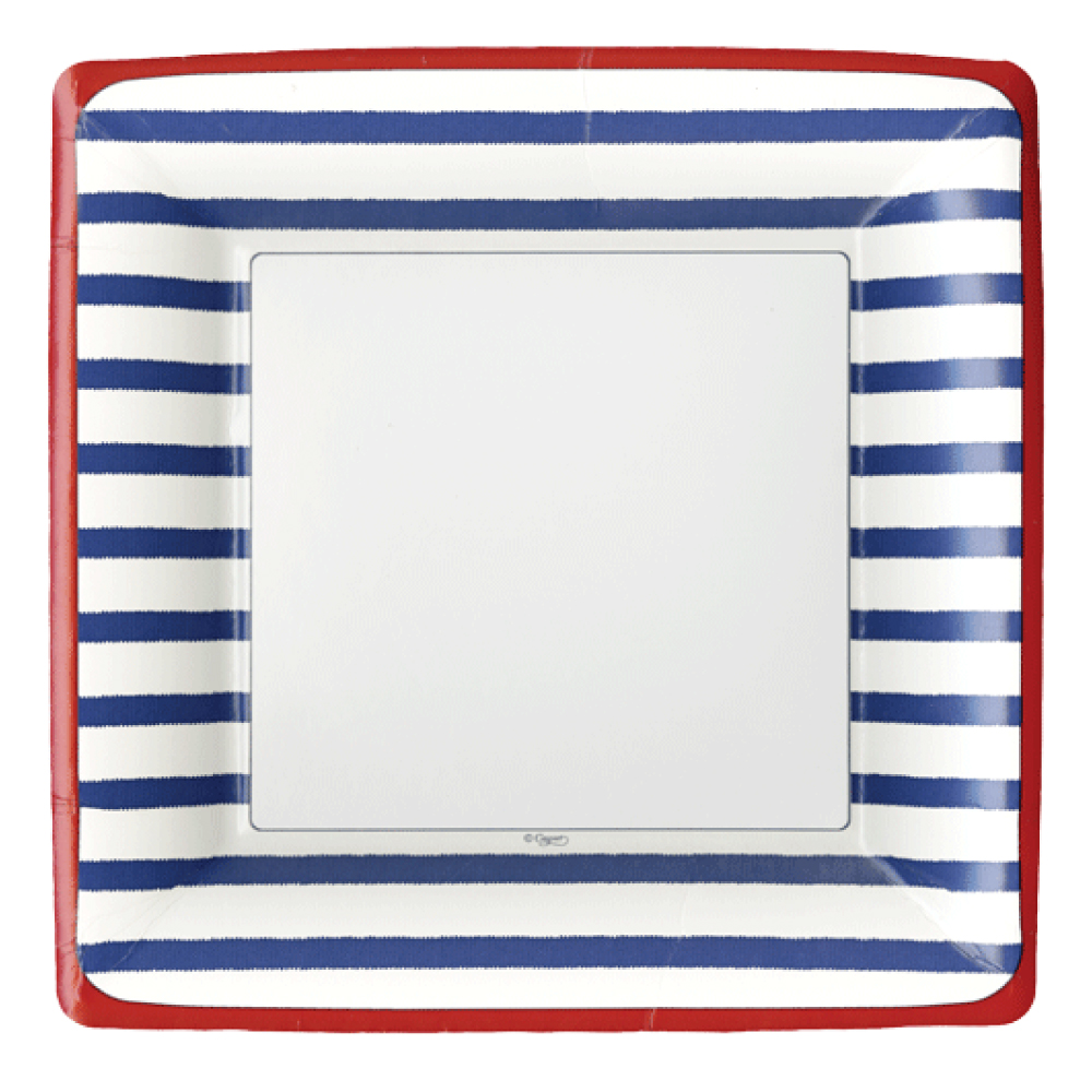 Nautical Paper Plates Dinner Blue  sc 1 st  Decorative Things & Nautical Paper Plates and Napkins u0026 Fourth of July Too