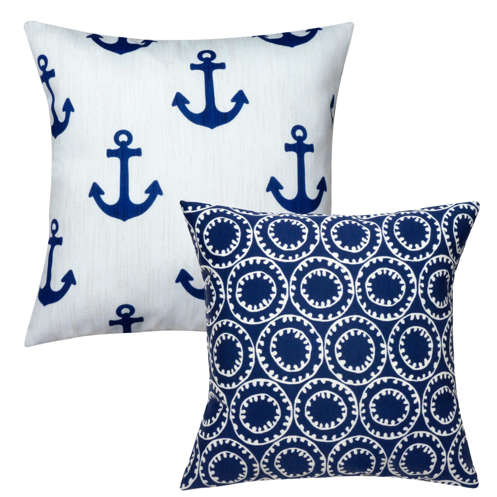 Nautical Coastal Throw Pillows : Nautical Pillows for Beach Decor Decorative Pillows