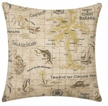 Nautical Pillows Cover Map