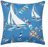 Nautical Pillows Cover Sailboats