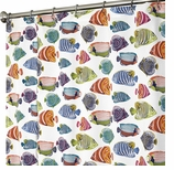 "Nautical Shower Curtains 84"" Fish"