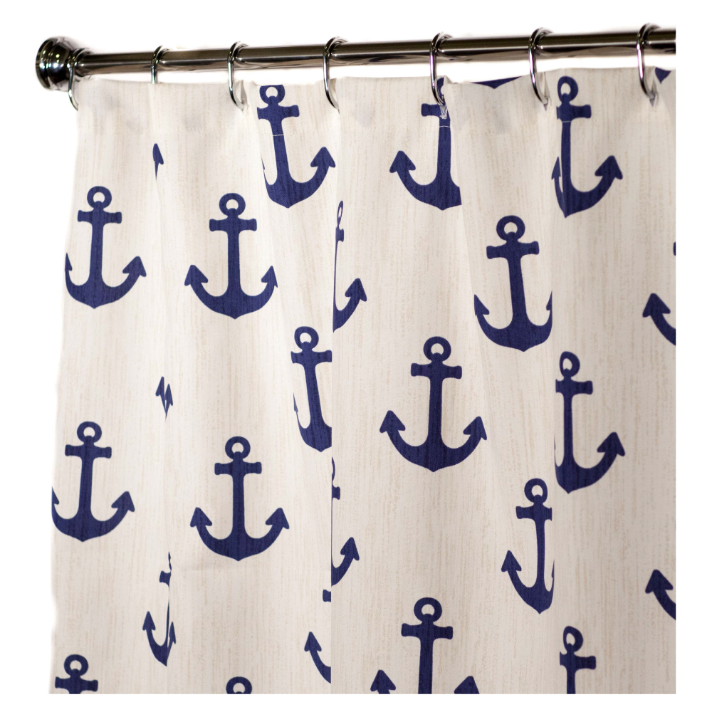 Nautical bathroom curtains - Nautical Shower Curtains Anchor 84