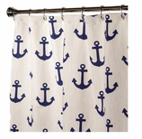 Nautical Shower Curtains Anchor 84""