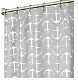 Nautical Shower Curtains Anchor Gray 96""