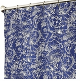 Nautical Shower Curtains Blue Map 84""
