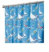 Nautical Shower Curtains Boat 84""