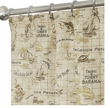 Nautical Shower Curtains Map 84""