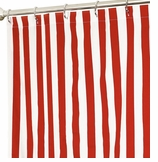 Nautical Shower Curtains Stripe Red 72""