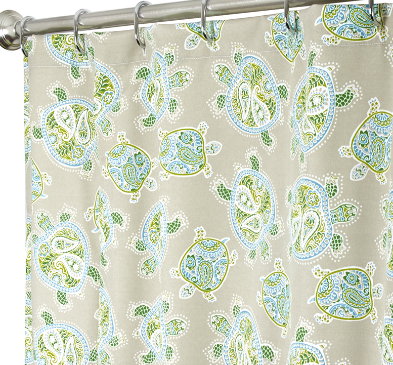Nautical Shower Curtains Turtle 84