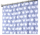 Nautical Shower Curtains Whale 84""