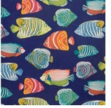 Outdoor Fabrics Navy Fish Swatch