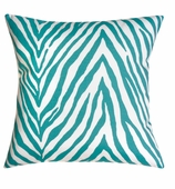 Outdoor Pillows Turq. Zebra without Insert