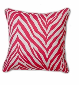 Outdoor Throw Pillows Pink Zebra without Insert