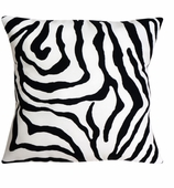 Outdoor Throw Pillows Zebra without Insert