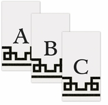 Paper Hand Towel Black and White Letter A-Z