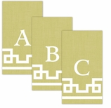 Paper Hand Towel Gold Letter A-Z