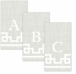 Paper Hand Towel Stone Letter A-Z