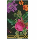 Paper Hand Towels Black Floral